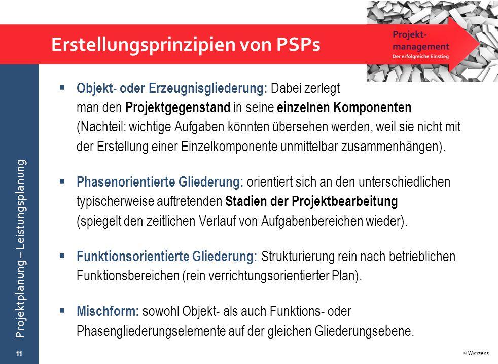 Erstellungsprinzipien von PSPs