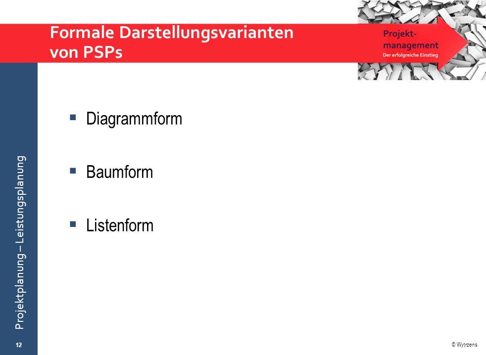 Formale Darstellungsvarianten von PSPs