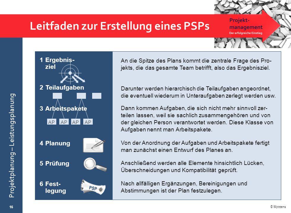 Leitfaden zur Erstellung eines PSPs