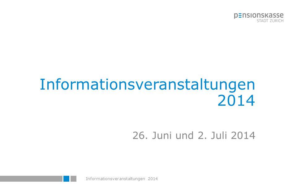 Informationsveranstaltungen 2014