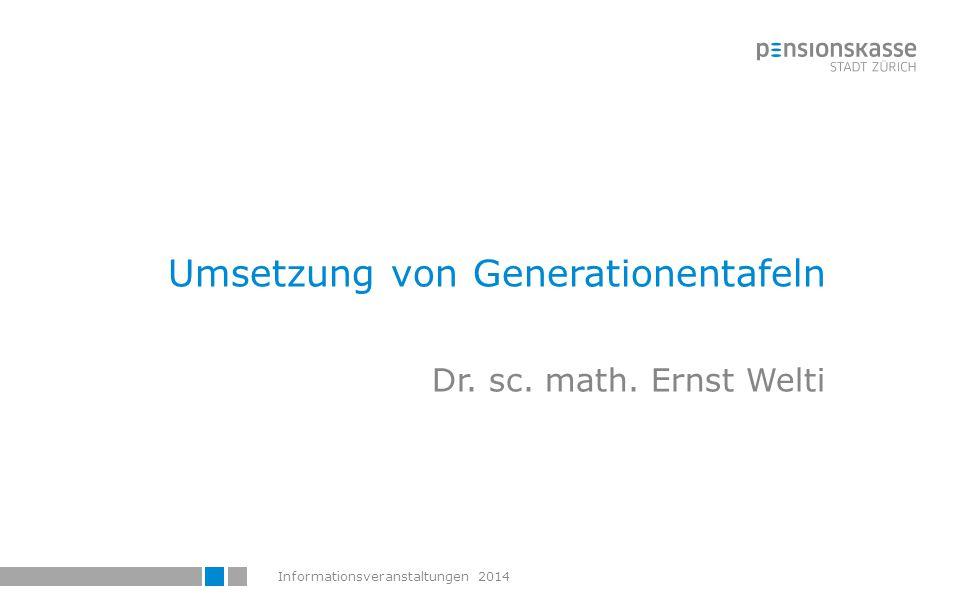 Umsetzung von Generationentafeln