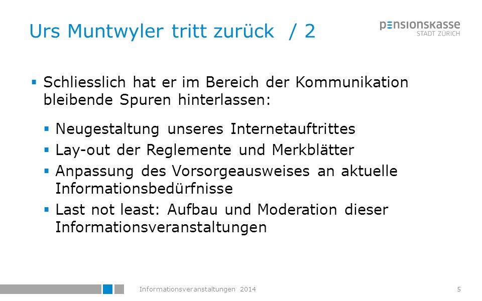 Urs Muntwyler tritt zurück / 2
