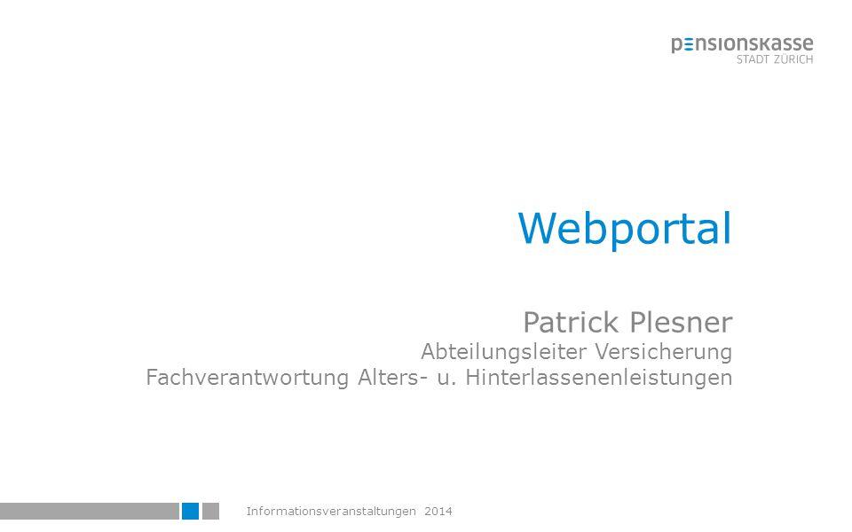 Webportal Patrick Plesner Abteilungsleiter Versicherung Fachverantwortung Alters- u.