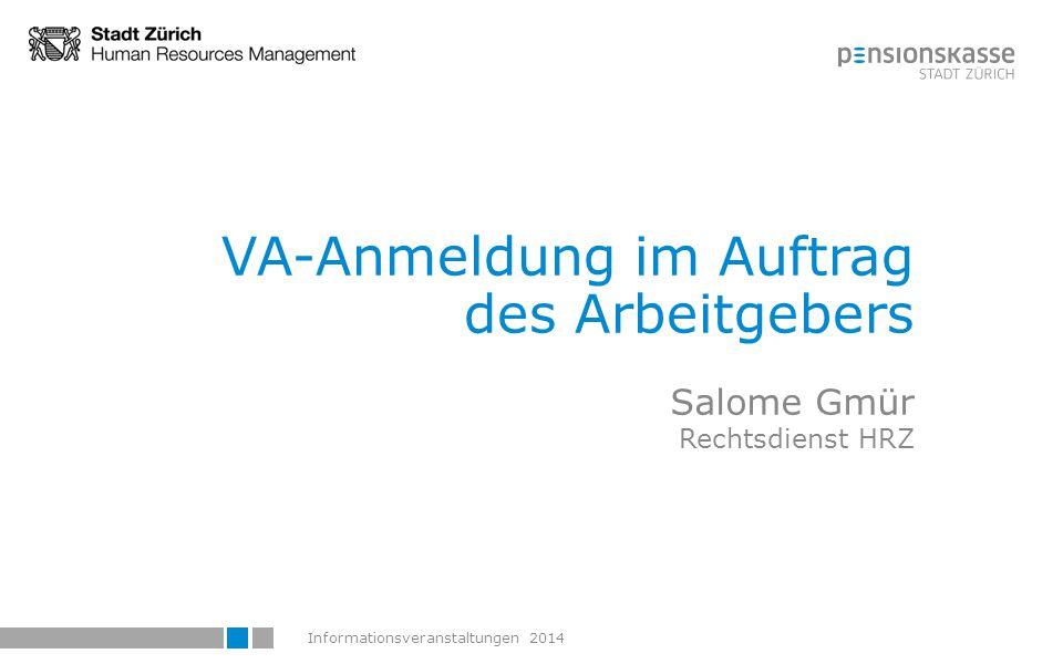 VA-Anmeldung im Auftrag des Arbeitgebers