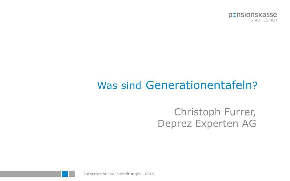 Was sind Generationentafeln