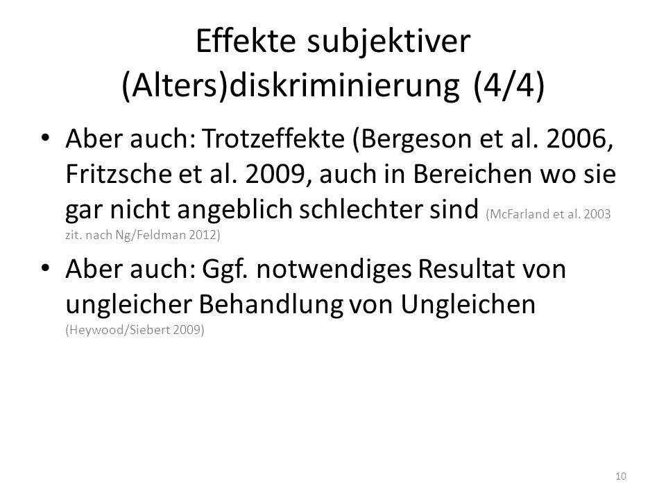 Effekte subjektiver (Alters)diskriminierung (4/4)