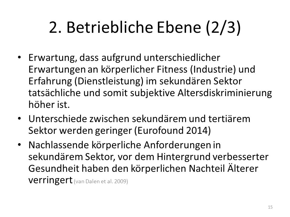 2. Betriebliche Ebene (2/3)
