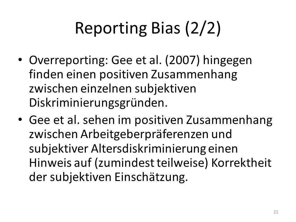 Reporting Bias (2/2)
