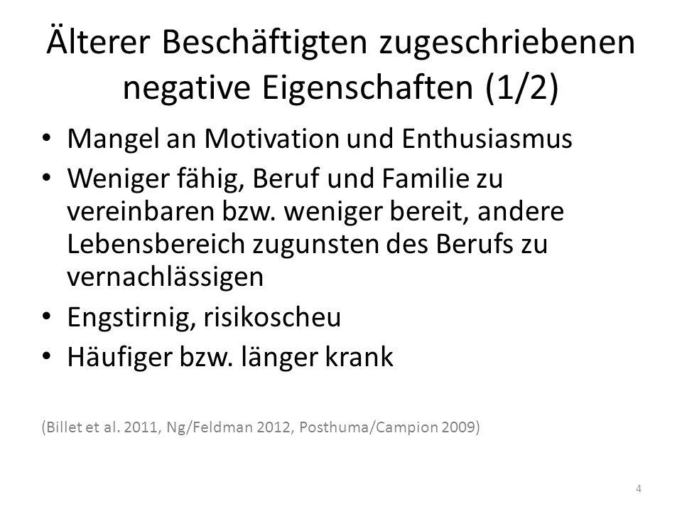 Älterer Beschäftigten zugeschriebenen negative Eigenschaften (1/2)