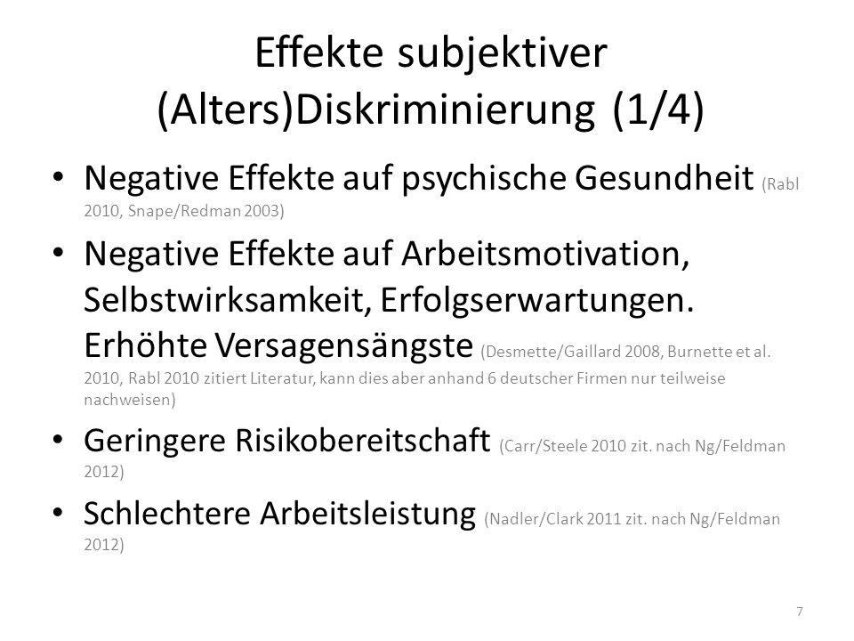 Effekte subjektiver (Alters)Diskriminierung (1/4)
