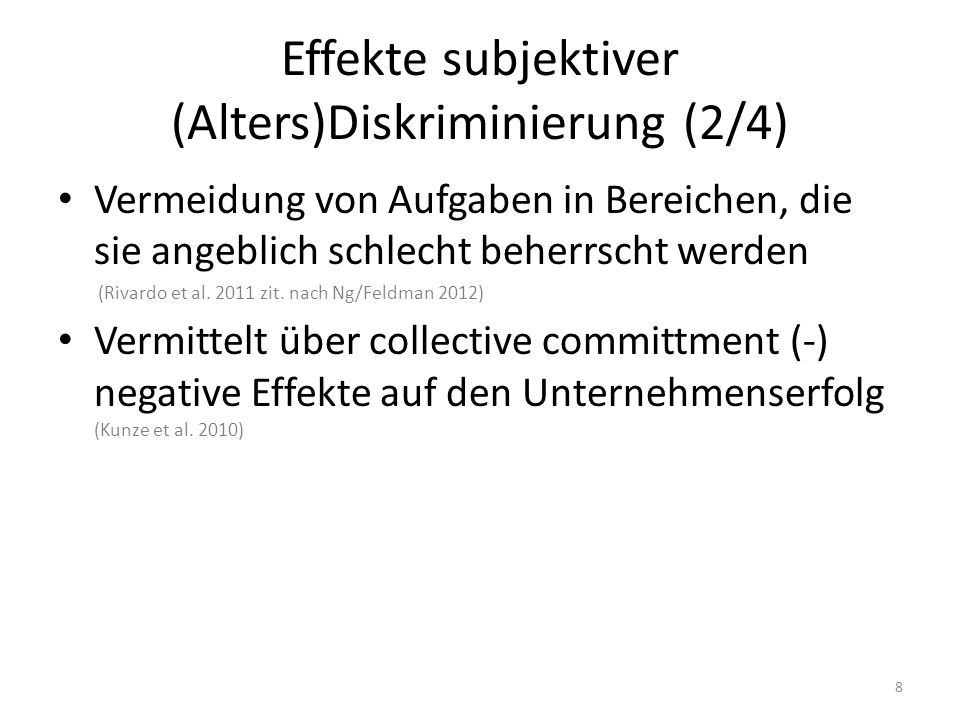 Effekte subjektiver (Alters)Diskriminierung (2/4)