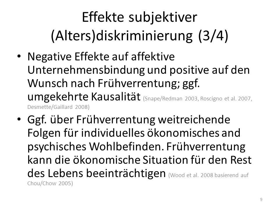 Effekte subjektiver (Alters)diskriminierung (3/4)