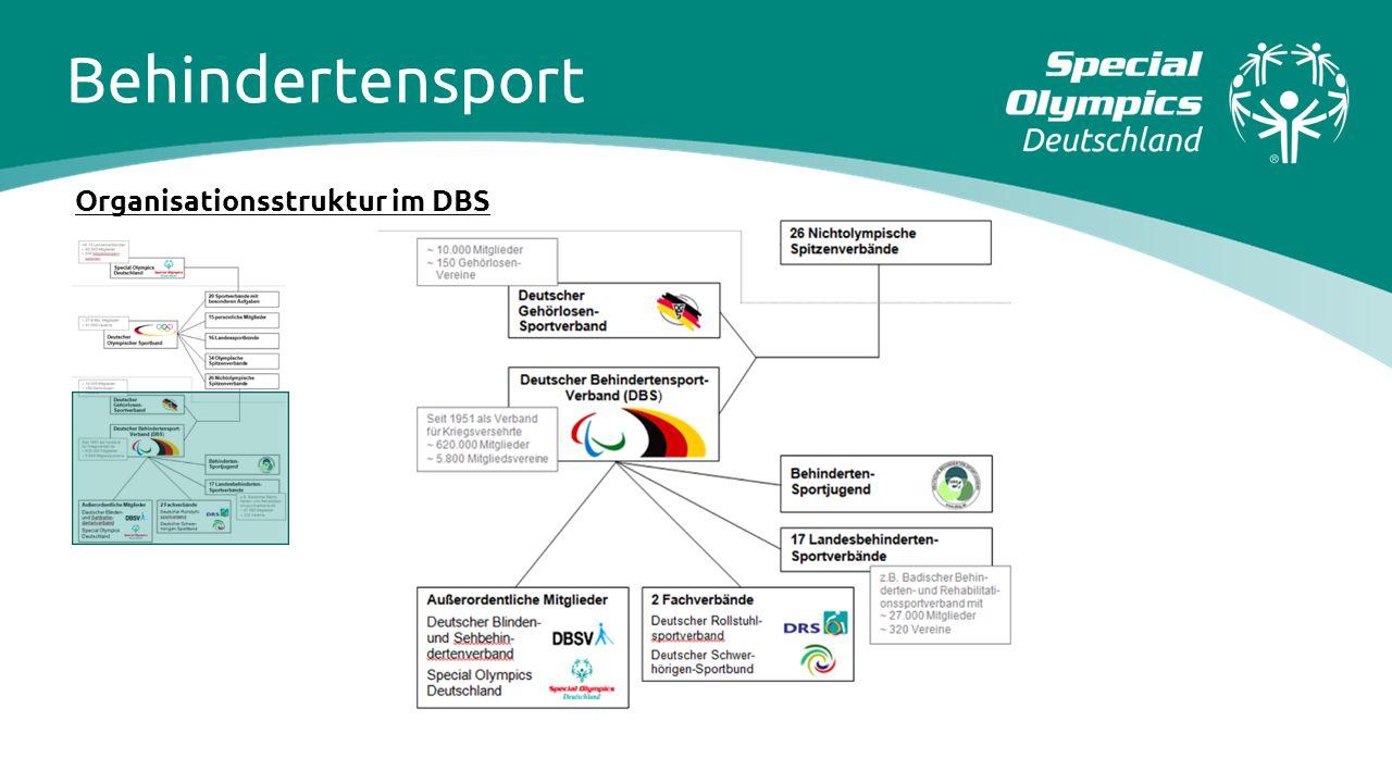 Behindertensport Organisationsstruktur im DBS
