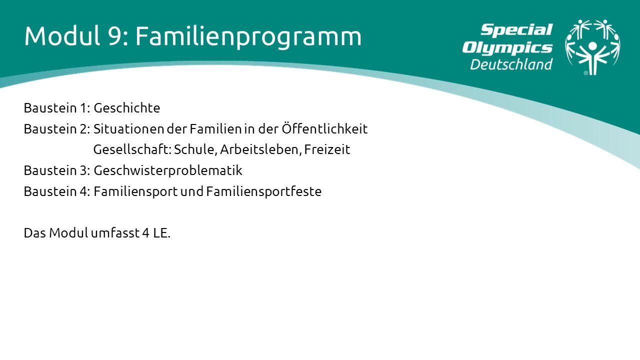 Modul 9: Familienprogramm