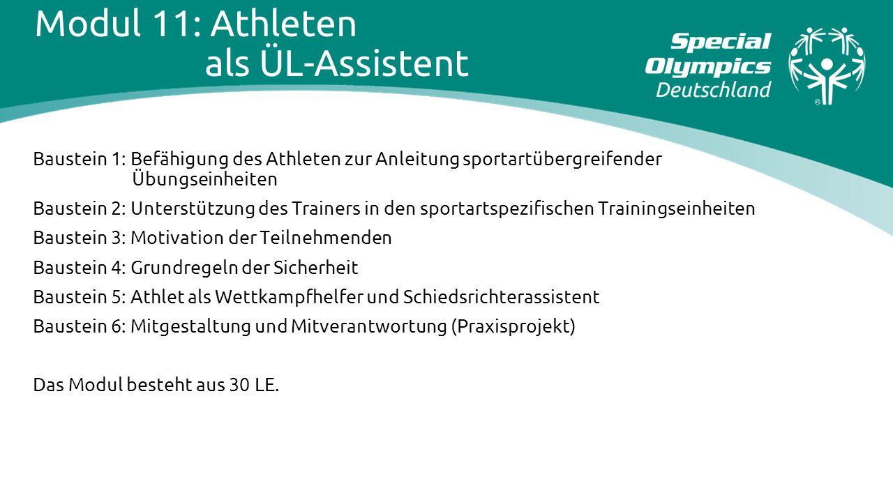 Modul 11: Athleten als ÜL-Assistent