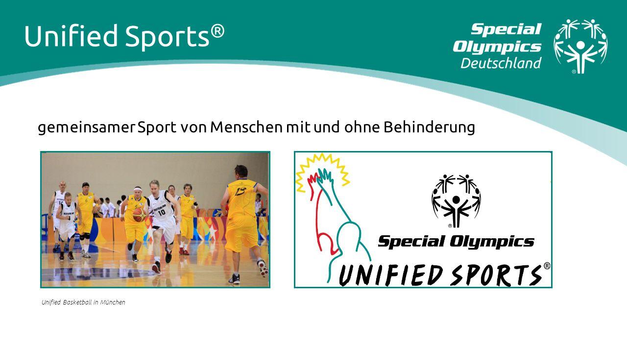 Unified Sports® gemeinsamer Sport von Menschen mit und ohne Behinderung.