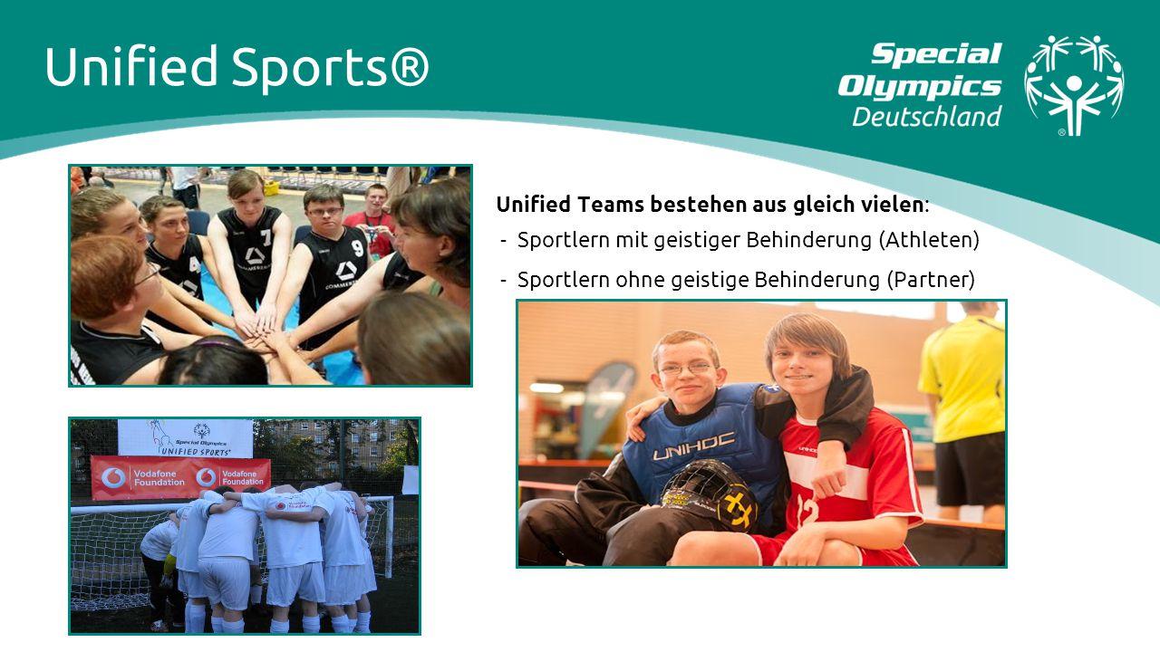 Unified Sports® Unified Teams bestehen aus gleich vielen: