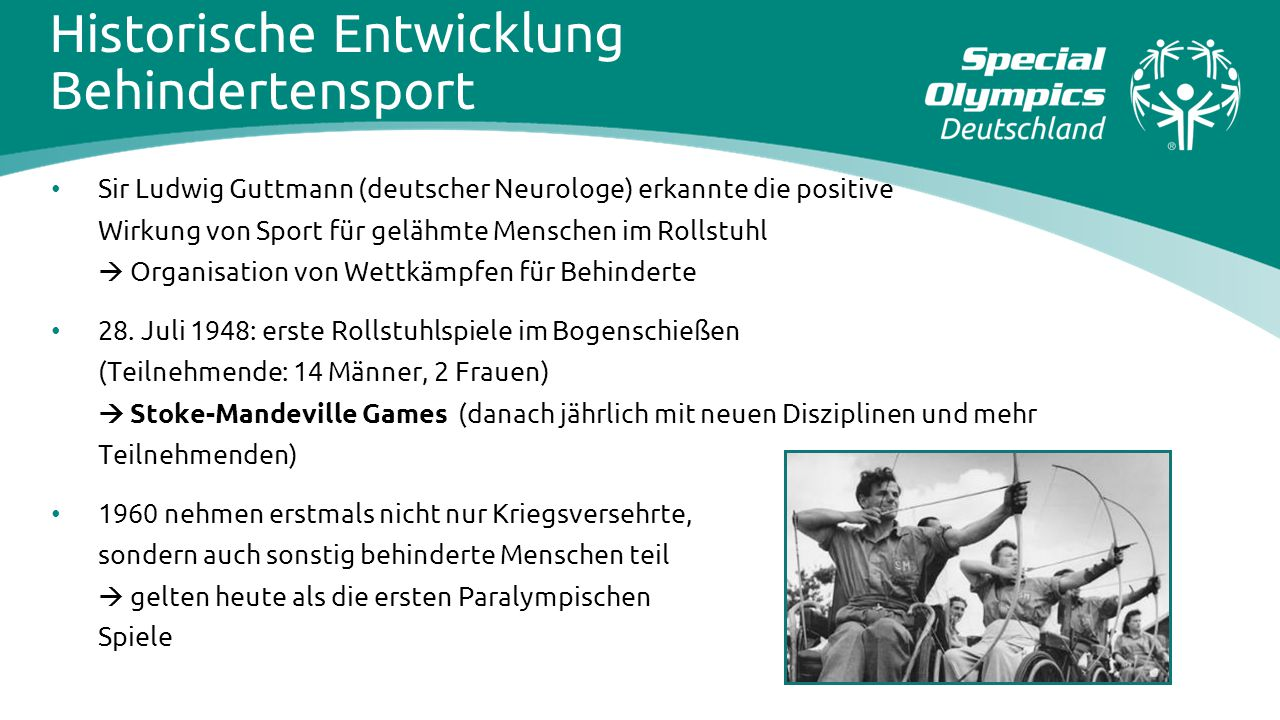 Historische Entwicklung Behindertensport