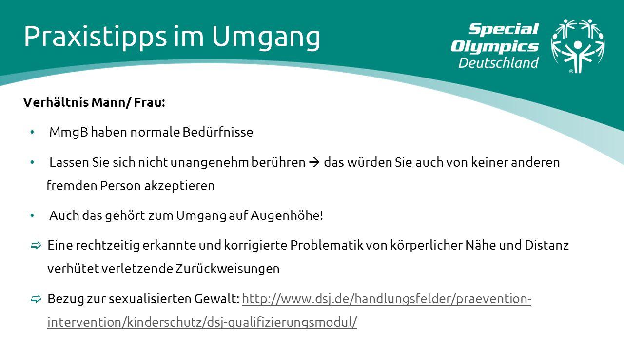 Praxistipps im Umgang Verhältnis Mann/ Frau: