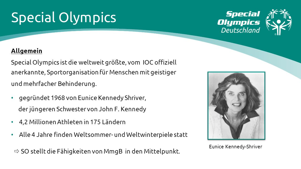Special Olympics Allgemein