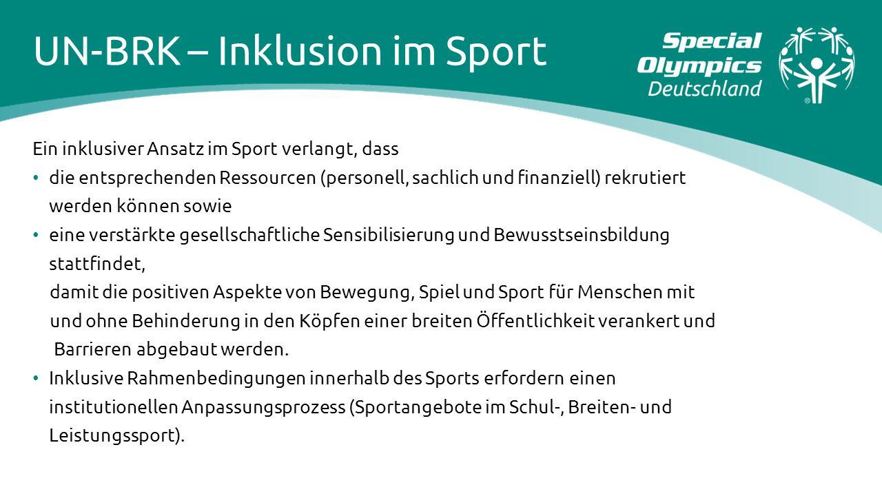 UN-BRK – Inklusion im Sport
