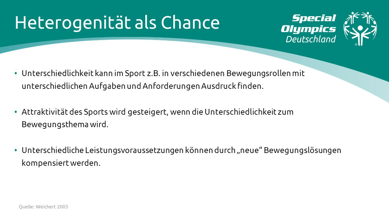 Heterogenität als Chance