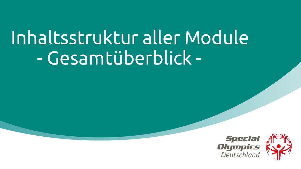 Inhaltsstruktur aller Module - Gesamtüberblick -