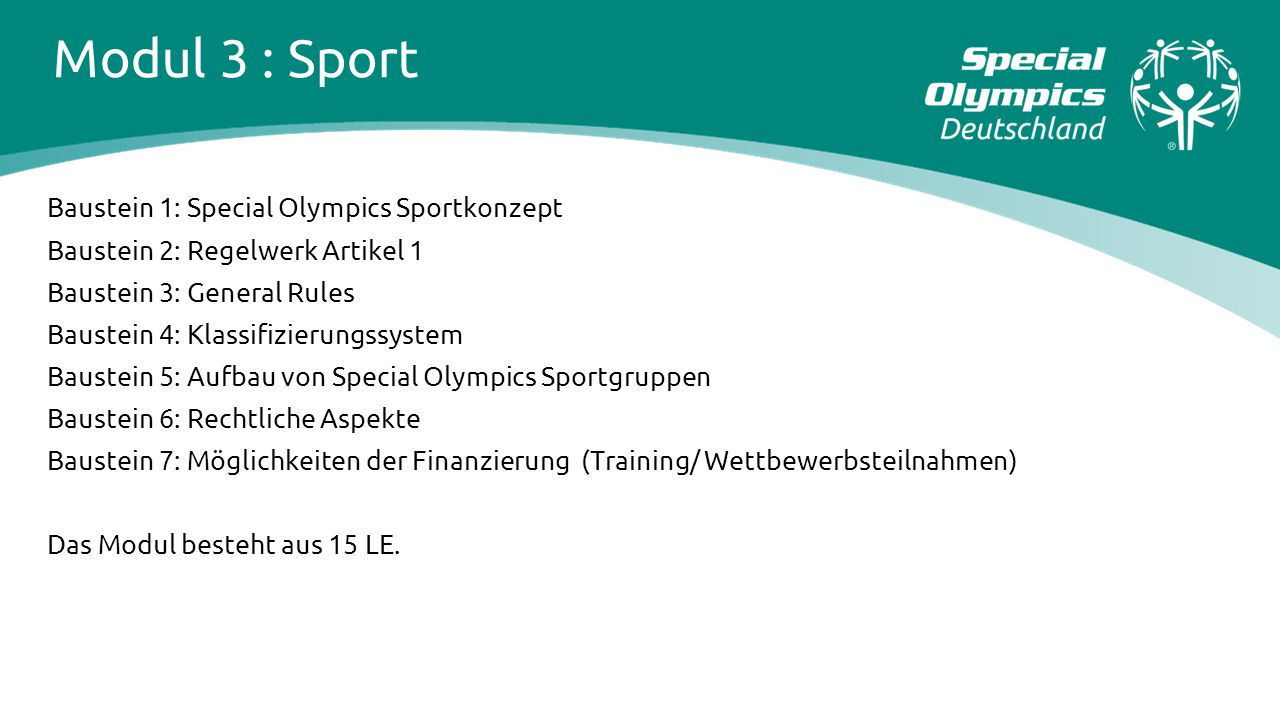 Modul 3 : Sport