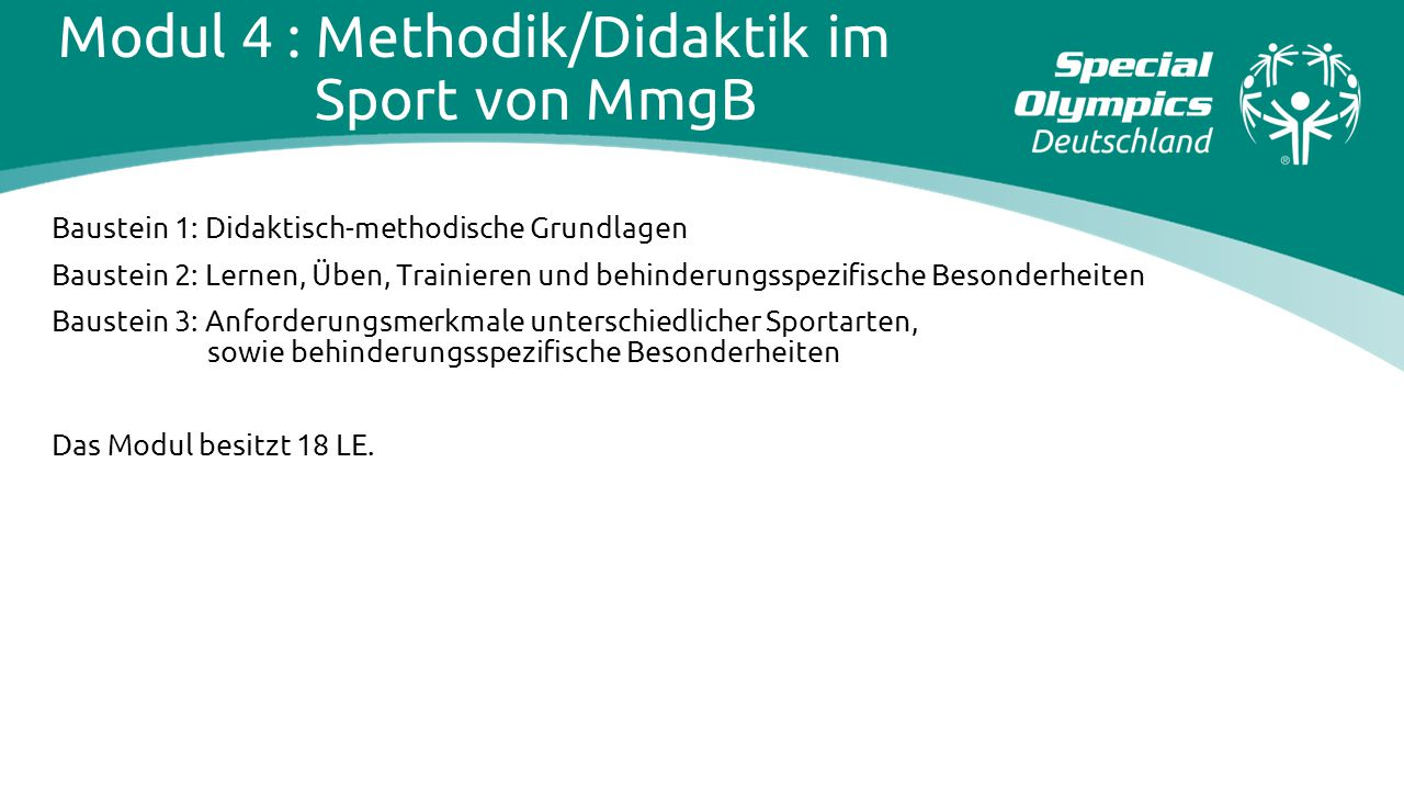 Modul 4 : Methodik/Didaktik im Sport von MmgB