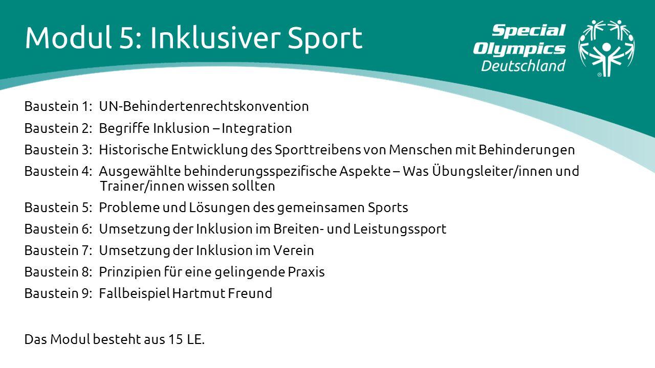 Modul 5: Inklusiver Sport