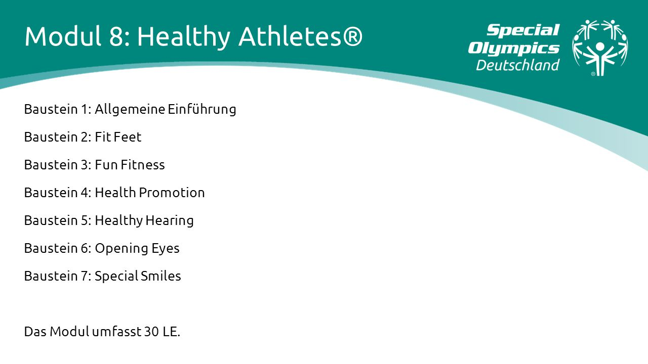 Modul 8: Healthy Athletes®
