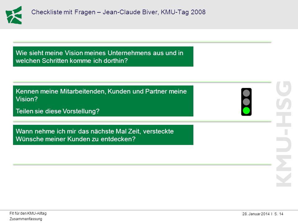 Checkliste mit Fragen – Jean-Claude Biver, KMU-Tag 2008