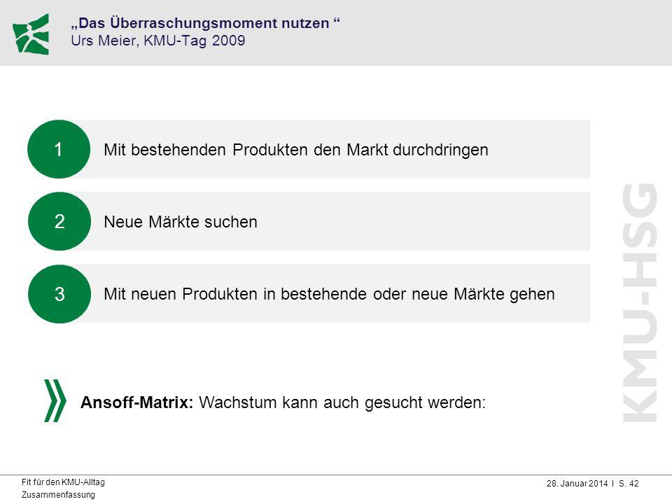 """""""Das Überraschungsmoment nutzen Urs Meier, KMU-Tag 2009"""