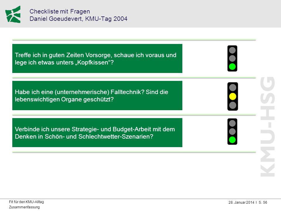 Checkliste mit Fragen Daniel Goeudevert, KMU-Tag 2004
