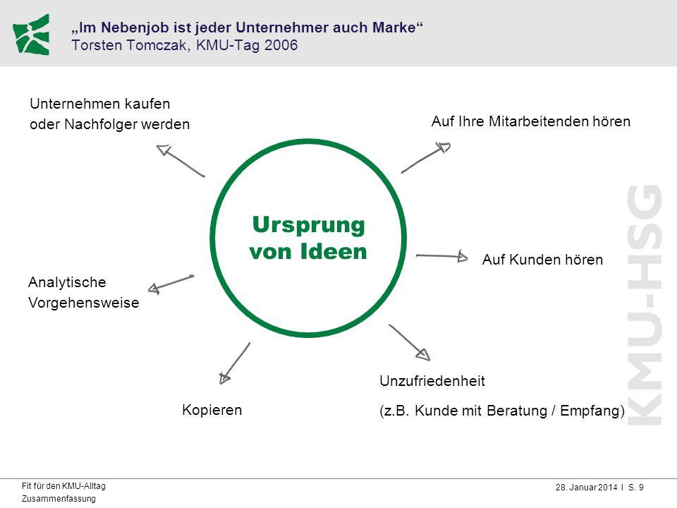 """""""Im Nebenjob ist jeder Unternehmer auch Marke Torsten Tomczak, KMU-Tag 2006"""