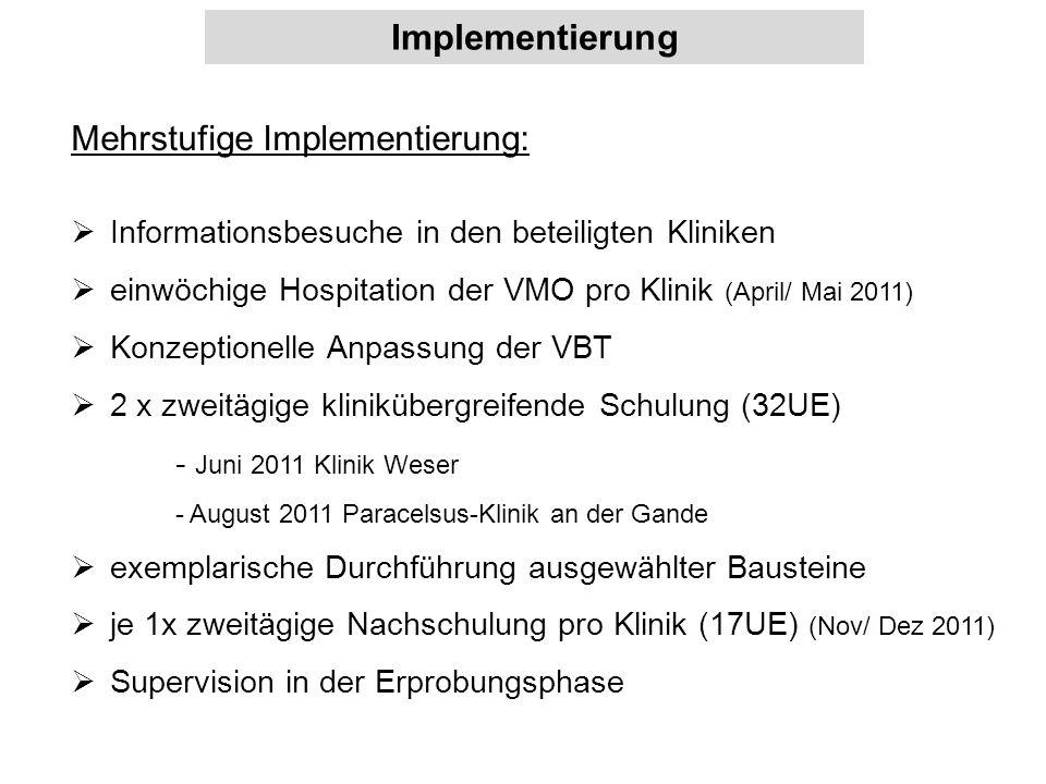 Implementierung Mehrstufige Implementierung: