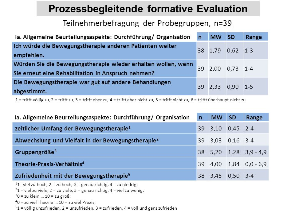Prozessbegleitende formative Evaluation