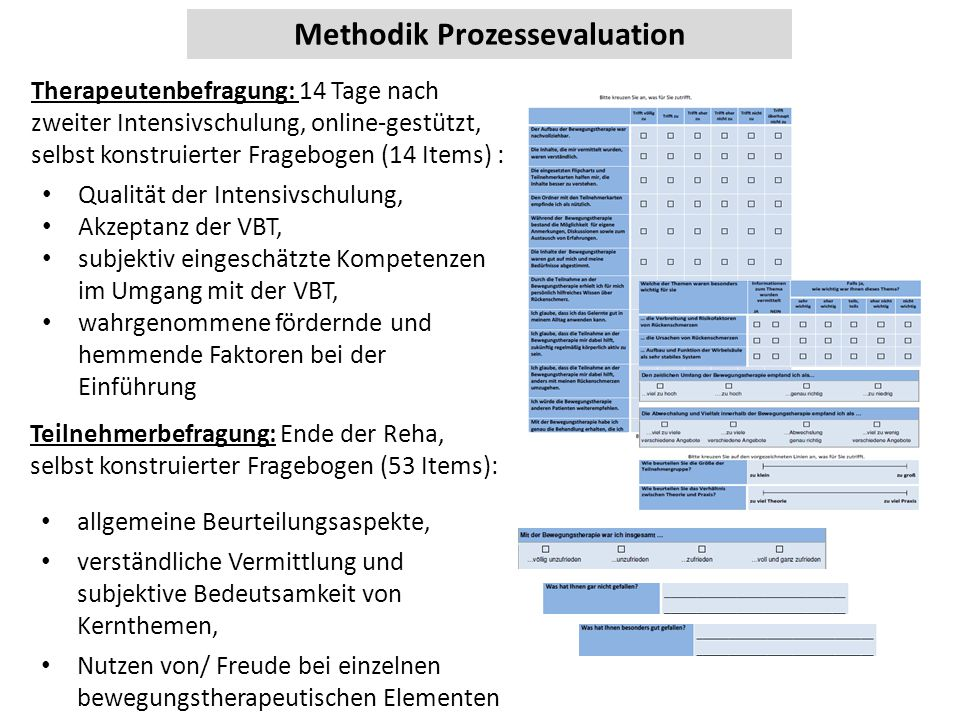 Methodik Prozessevaluation