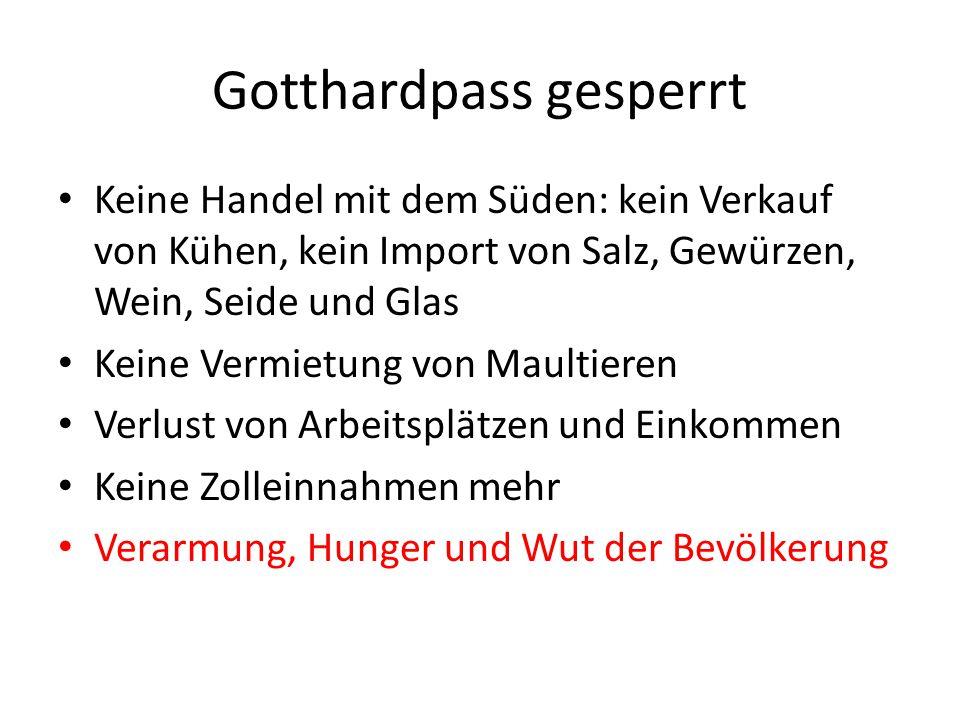 Gotthardpass gesperrt