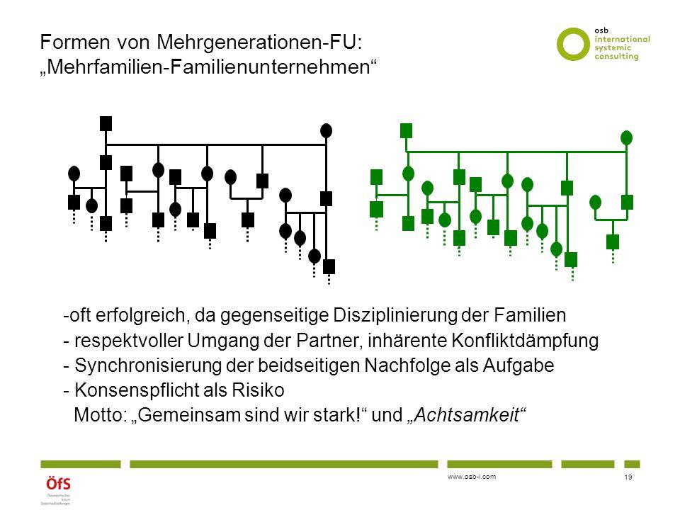 """Formen von Mehrgenerationen-FU: """"Mehrfamilien-Familienunternehmen"""