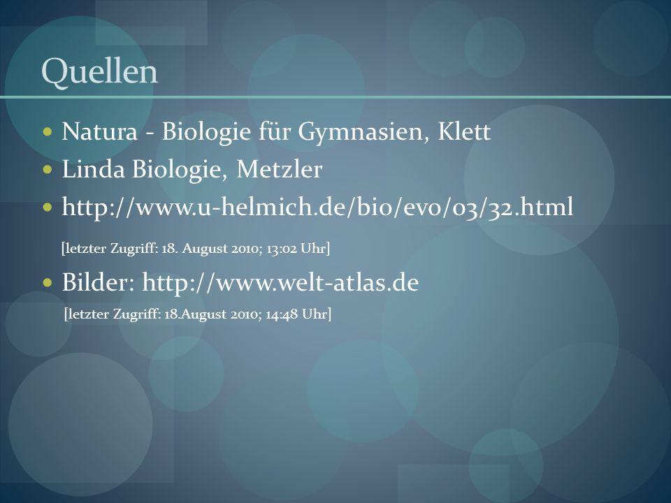 Quellen Natura - Biologie für Gymnasien, Klett Linda Biologie, Metzler