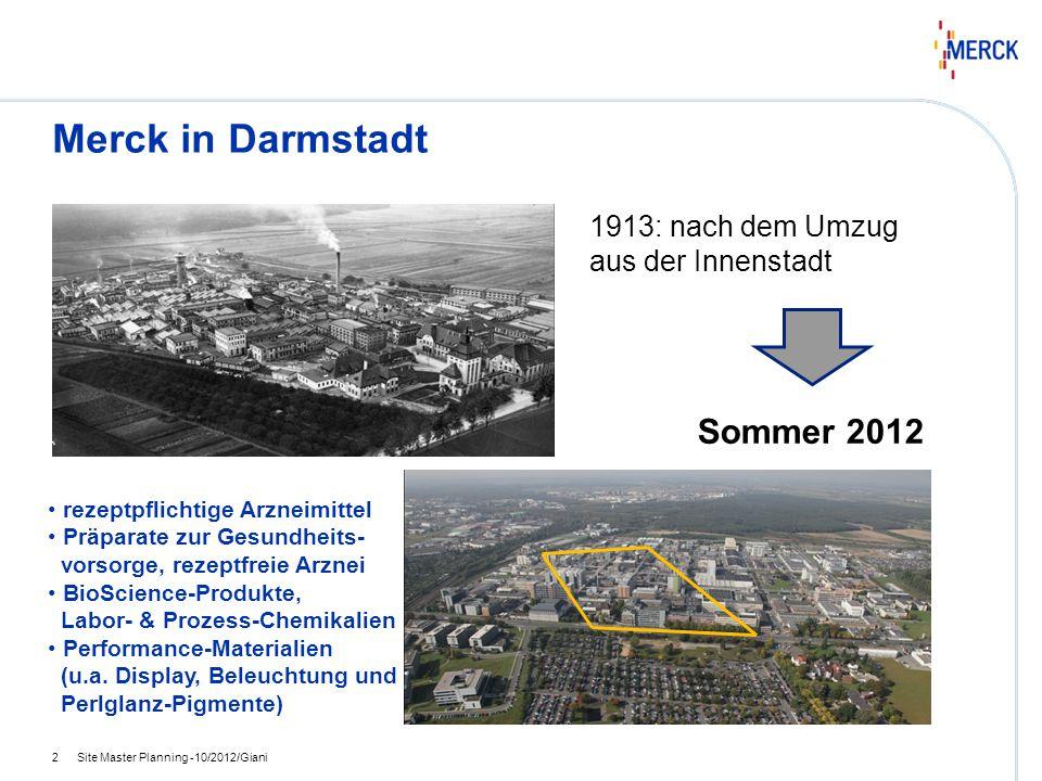 Merck in Darmstadt Sommer 2012 1913: nach dem Umzug aus der Innenstadt
