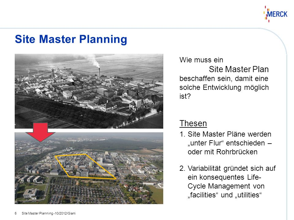 Site Master Planning hhh. Wie muss ein. Site Master Plan beschaffen sein, damit eine solche Entwicklung möglich ist