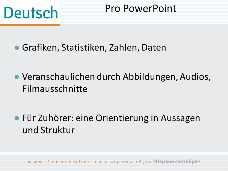 Pro PowerPoint ● Grafiken, Statistiken, Zahlen, Daten