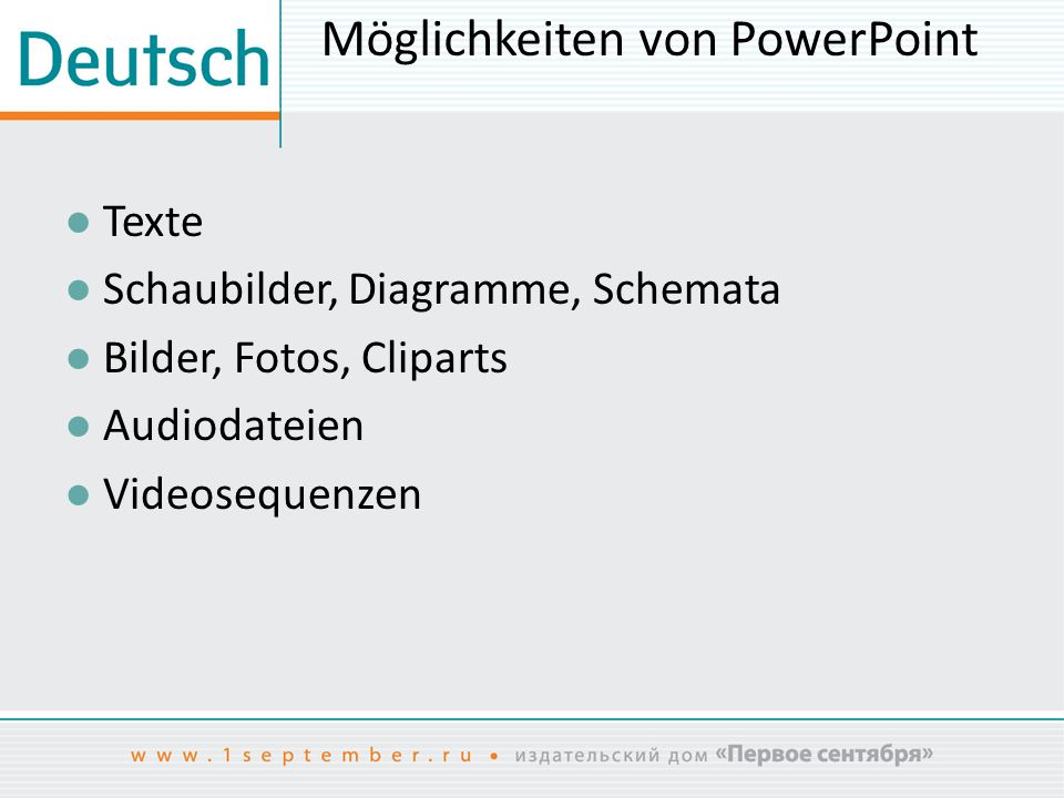 Möglichkeiten von PowerPoint