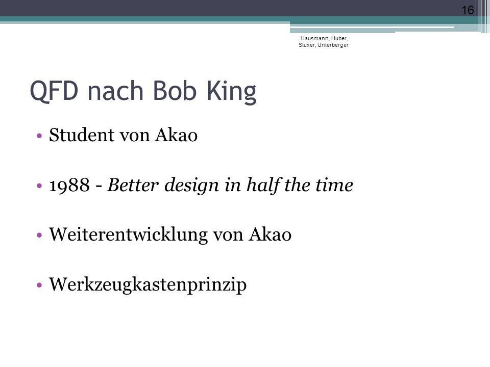 QFD nach Bob King Student von Akao