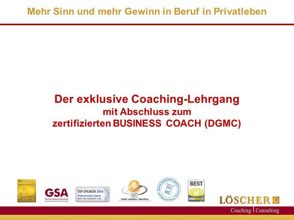 Der exklusive Coaching-Lehrgang