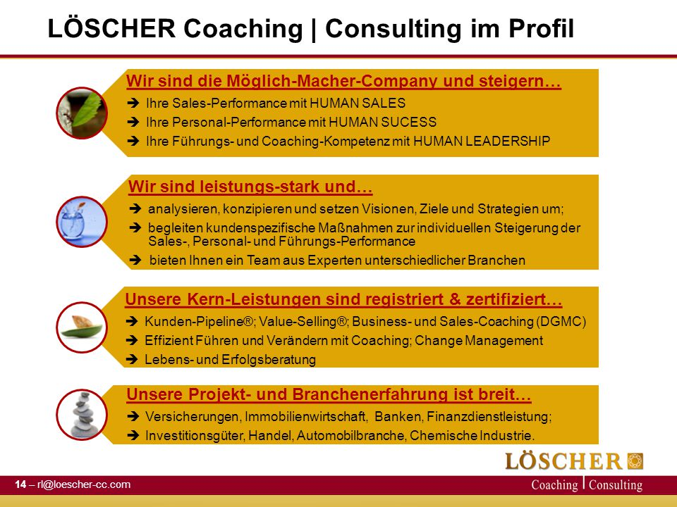 LÖSCHER Coaching | Consulting im Profil