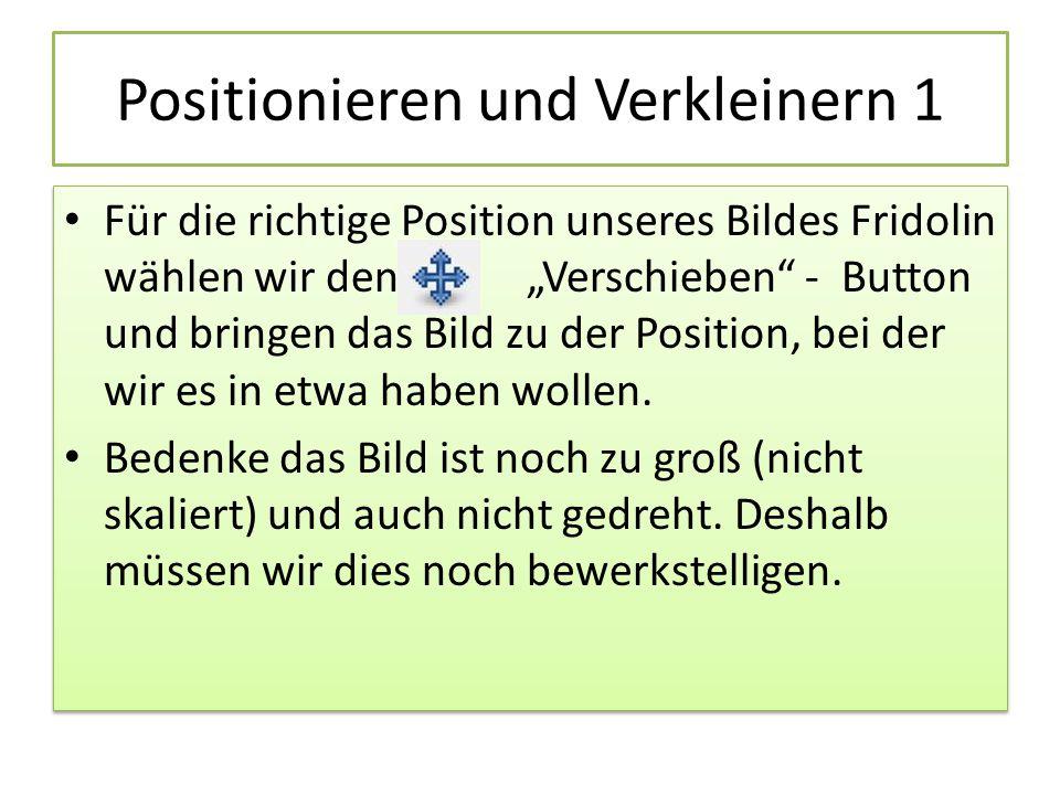Positionieren und Verkleinern 1