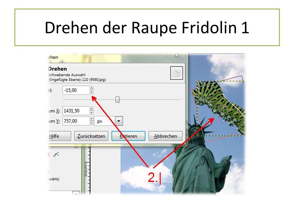Drehen der Raupe Fridolin 1